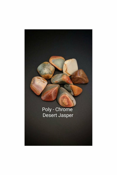 poly-chrome desert jasper crystal stones - julys moon