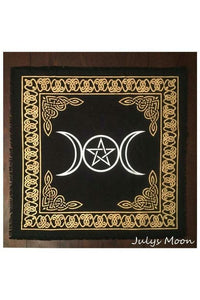 Triple Moon Pentacle Altar Cloth