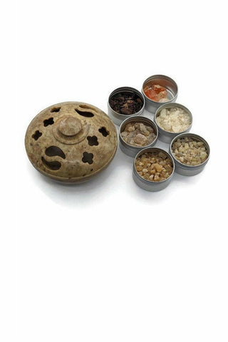 julys moon soapstone multi burner with resin gift set