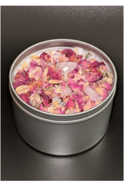 crystal aromatherapy candles-  julys moon