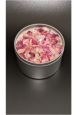 hand poured rose quartz aromatherapy candles - julys moon