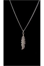 sterling silver feather necklace - julys moon