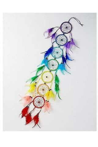 7 Chakra Rainbow Dream Catcher - Julys Moon - Chakra Home Decor