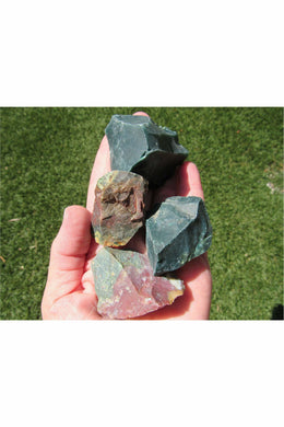 Rough Bloodstone Crystals - Raw Crystals - Julys Moon