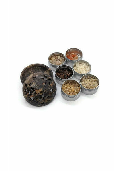 resin incense gift set with burner from julys moon