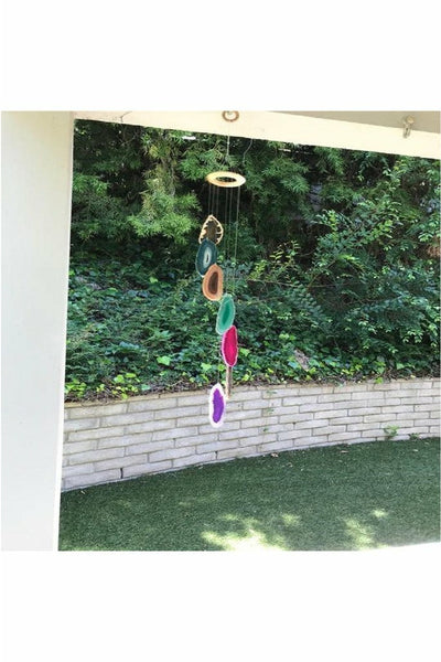Beautiful Multi-Color Agate Wind Chimes
