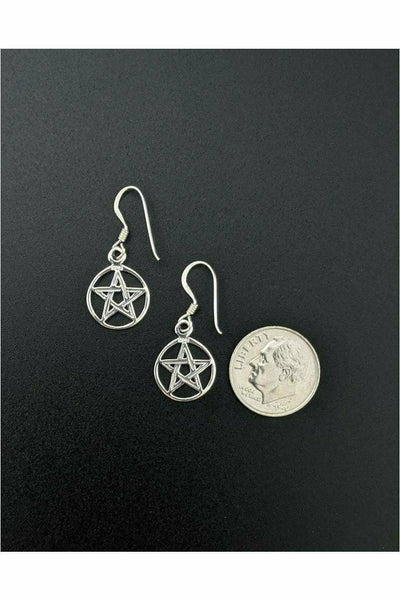 pentacle earrings in sterling silver - julys moon