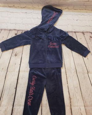Toddler Girls Velour Jacket & Pants Set - JVN Creations & Designs