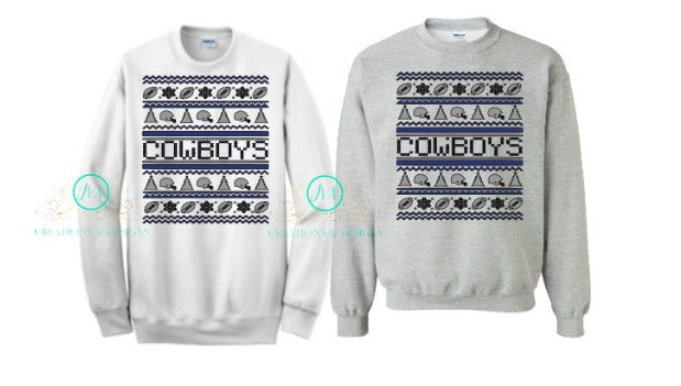 Cowboys Ugly Christmas - JVN Creations & Designs
