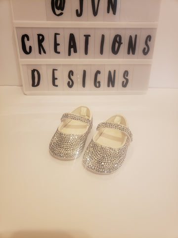 Blinged out baby shoes
