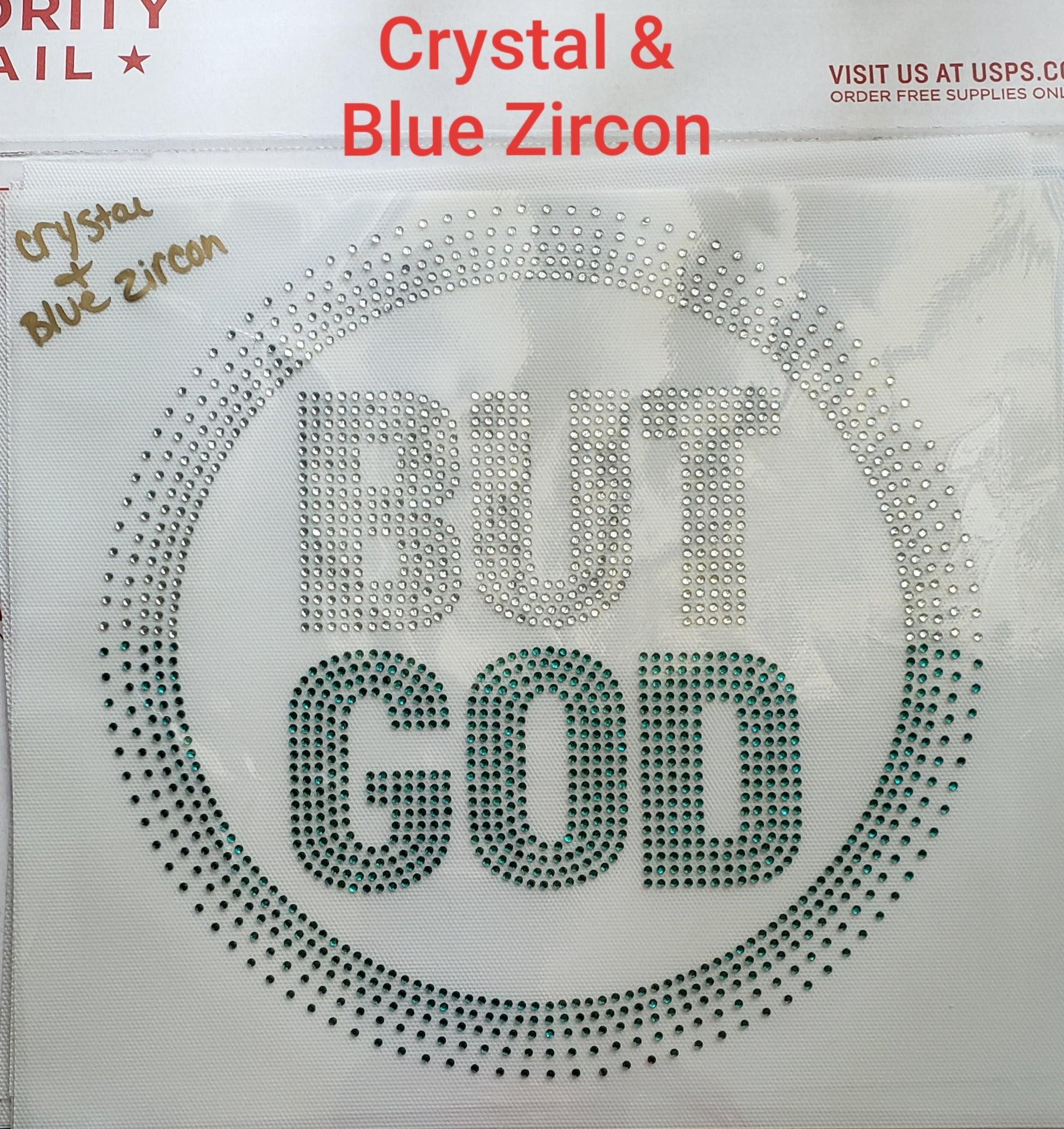 BUT GOD RHINESTONE TRANSFER SHEET - JVN Creations & Designs