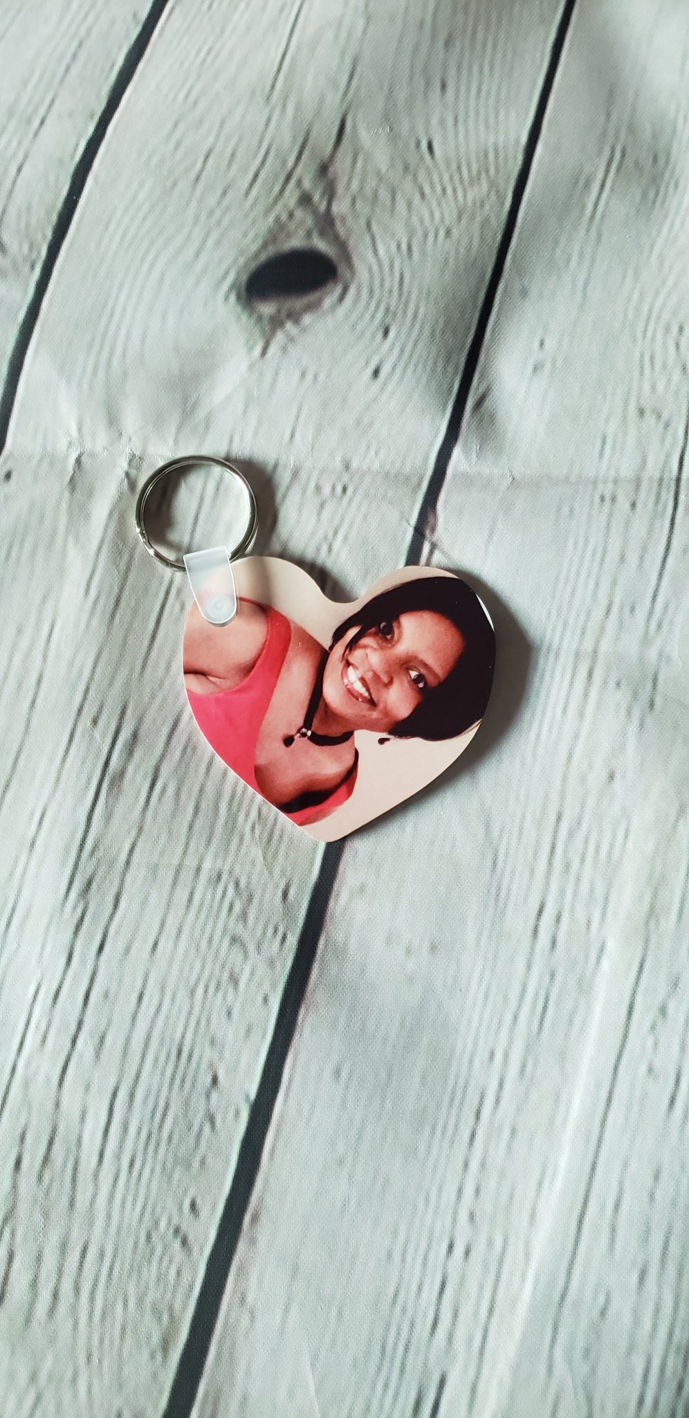 2-Sided Heart Keychain - JVN Creations & Designs