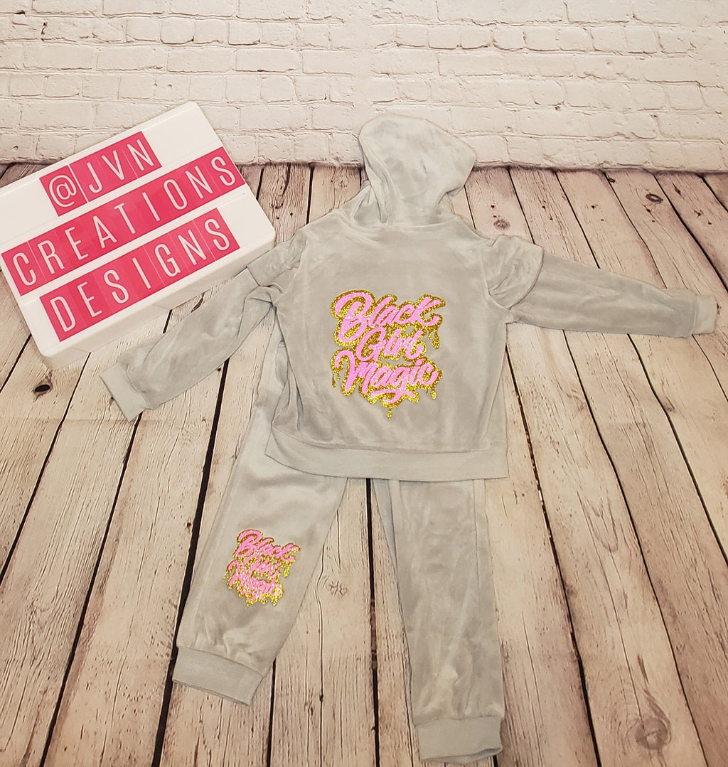Toddler Girls Velour Jacket & Pants Set