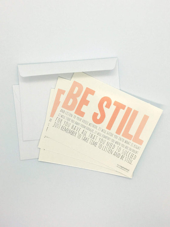 Be Still Notecards