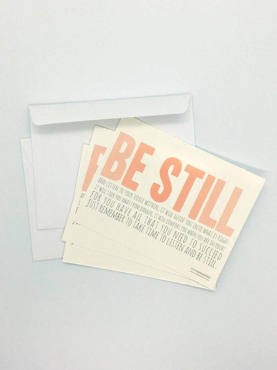 Be Still Postcard