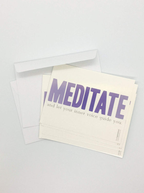 MEDITATE Notecards