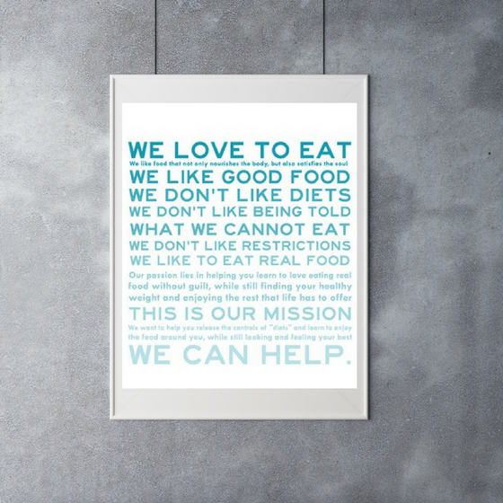 We Love To Eat: The Dietitians Manifesto