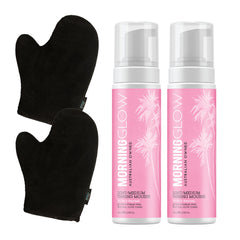 Morning Glow Best Friend Pack with Light/Medium Self-Tan Mousse and Mitt