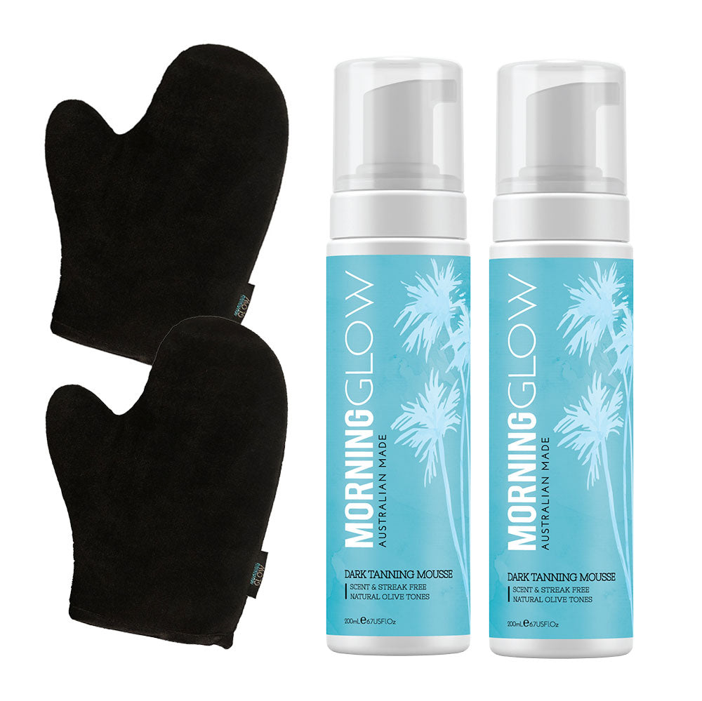 Morning Glow Best Friend Pack with Dark Self-Tan Mousse and Mitt