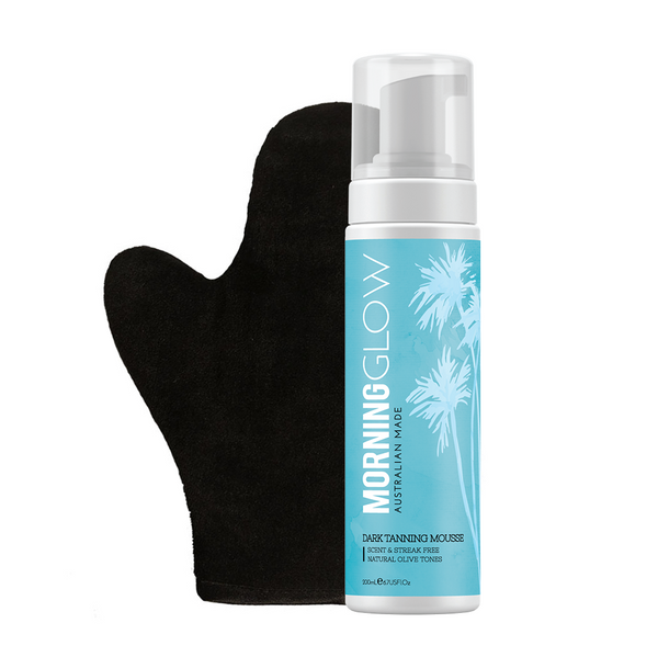 Morning Glow Self-Tan Pack with Dark Self-Tan Mousse and Mitt