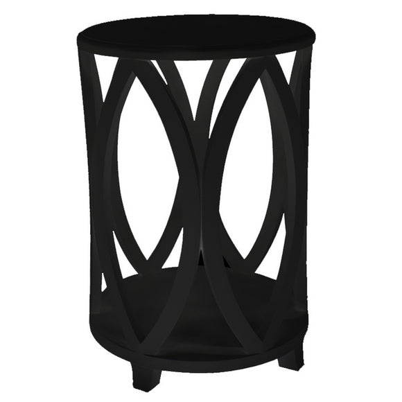 Bonnie Round Side Table Black
