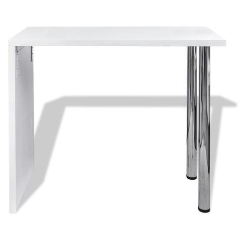 High Gloss Dining Table With 2 Legs - White