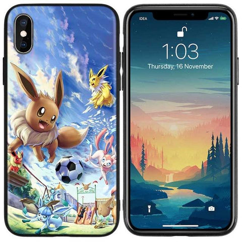 Image de la Coque iPhone Pokémon Evoli football