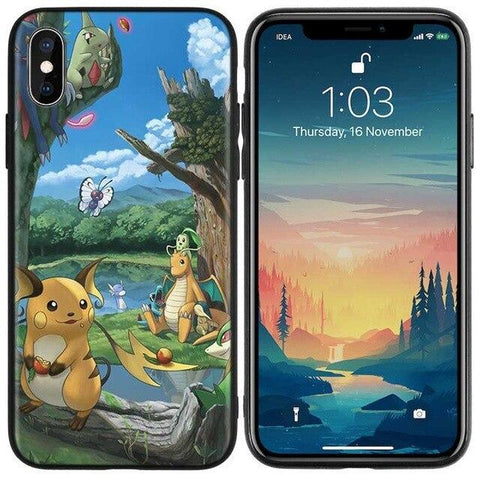 Image de la Coque iPhone Pokémon Parc naturel