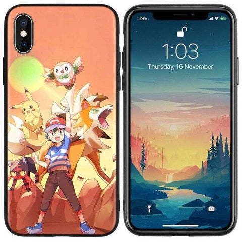 Image de la Coque iPhone Pokémon Sacha Alola