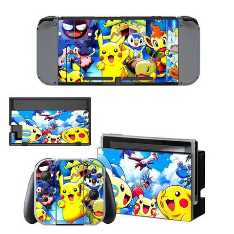 Photo des stickers Pokémon pour Nintendo Switch