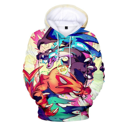 Photo d'un sweat Pokémon mega dracaufeu