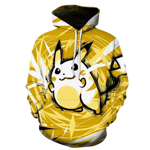 Photo d'un sweat Pokémon Pikachu jaune