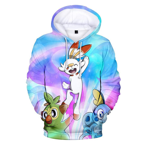 Photo d'un sweat Pokémon starters galar