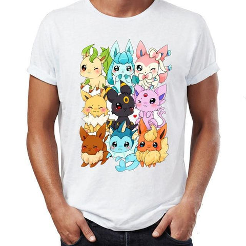 Photo du t-shirt Pokémon évolitions kawaii