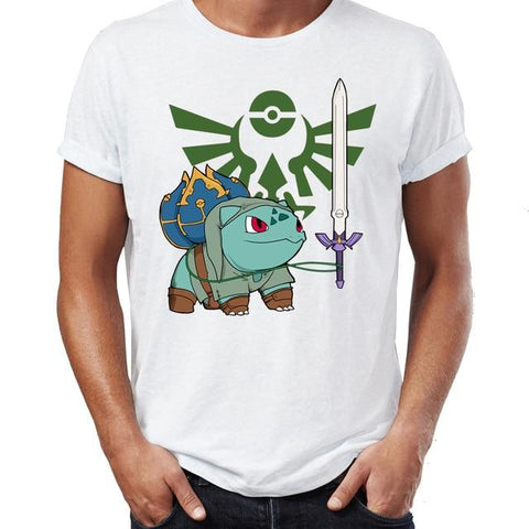 T-shirt Pokemon Bulbizarre Link