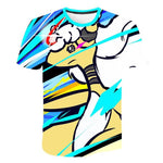 image du t-shirt pokemon coloré de mega Pharamp