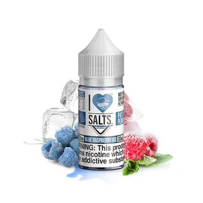 Blue Raspberry Ice 10ml Salt eLiquid by I Love Salts