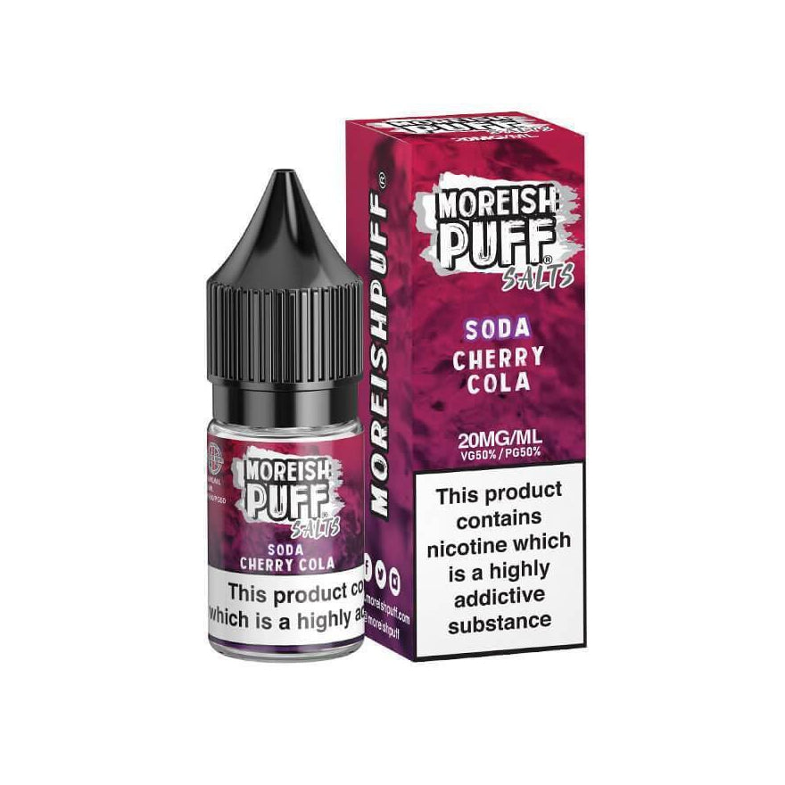 Cherry Cola Soda 10ml Salt eLiquid by Moreish Puff
