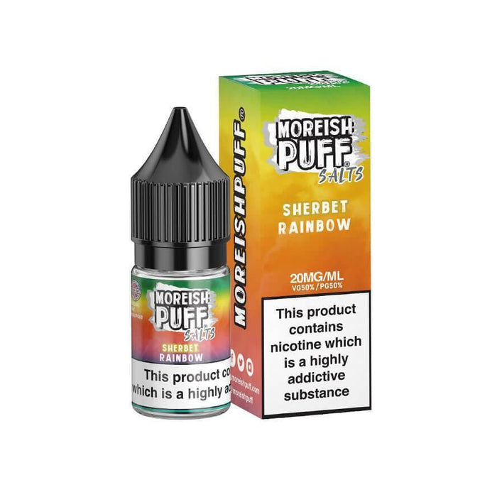 Rainbow Sherbet 10ml Salt eLiquid by Moreish Puff