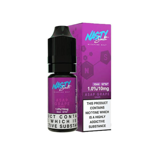 Asap Grape 10ml Salt eLiquid by Nasty Juice