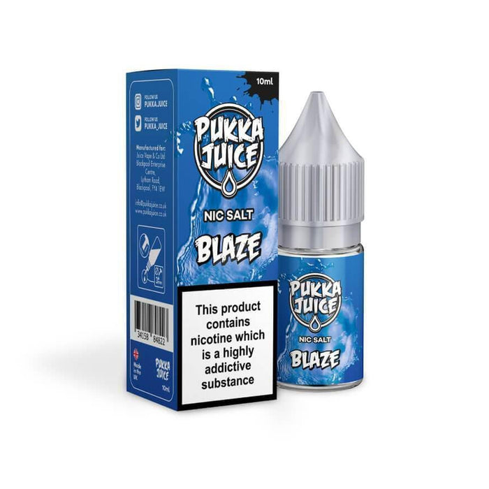 Blaze 10ml Salt by Pukka Juice