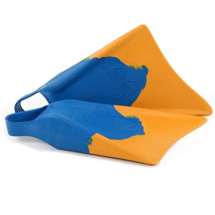 CHURCHILL Makapuu L Blue & Yellow Bodyboard Fins