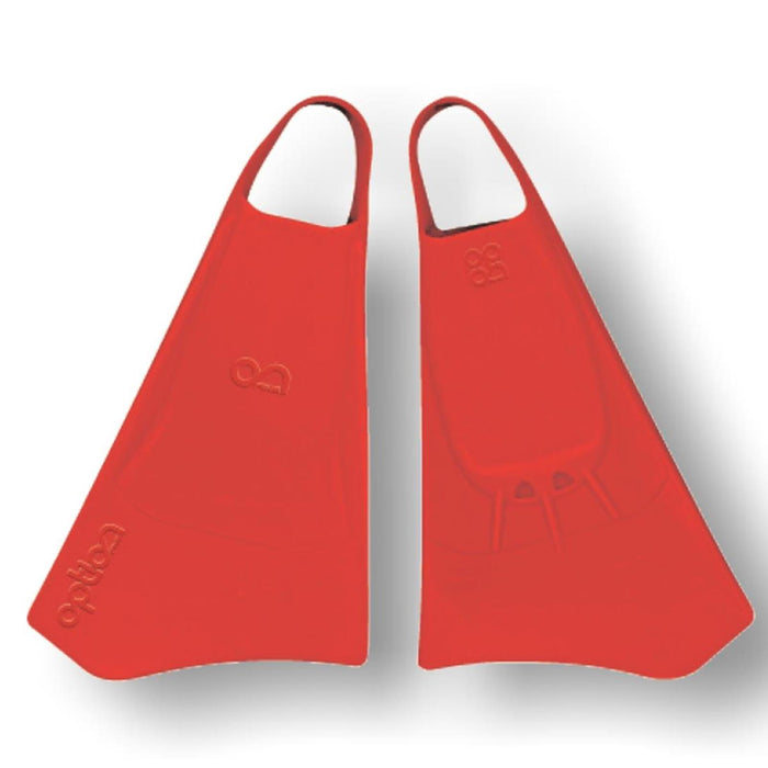 OPTION L Red Bodyboard Fins