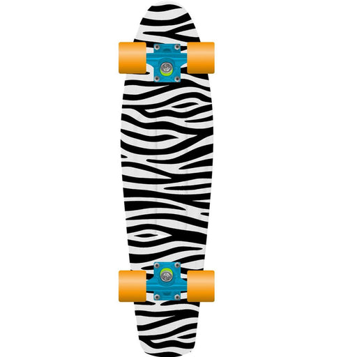"PROHIBITION Retro Skateboard, 28"" Zebra"