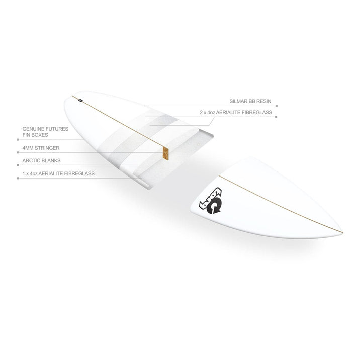 TORQ Polyester Performance Fish 5.8 Surfboard