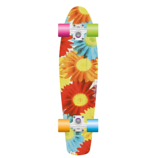 "PROHIBITION Retro Skateboard, 22.5"" Sunflower"