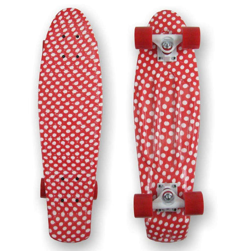 "PROHIBITION Retro Skateboard, 22.5"" Polka"