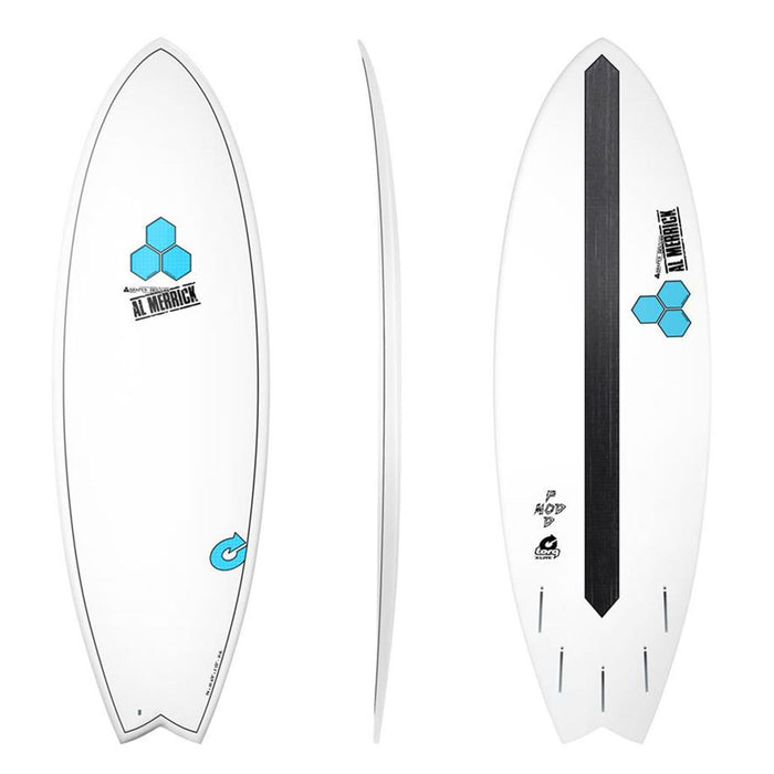 CHANNEL ISLANDS X-lite Pod Mod 5.10 Blue Surfboard