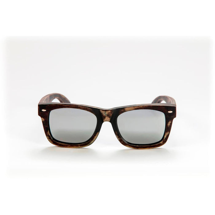 Mawaii Bamboo Timu Sunglasses, Brown & Silver
