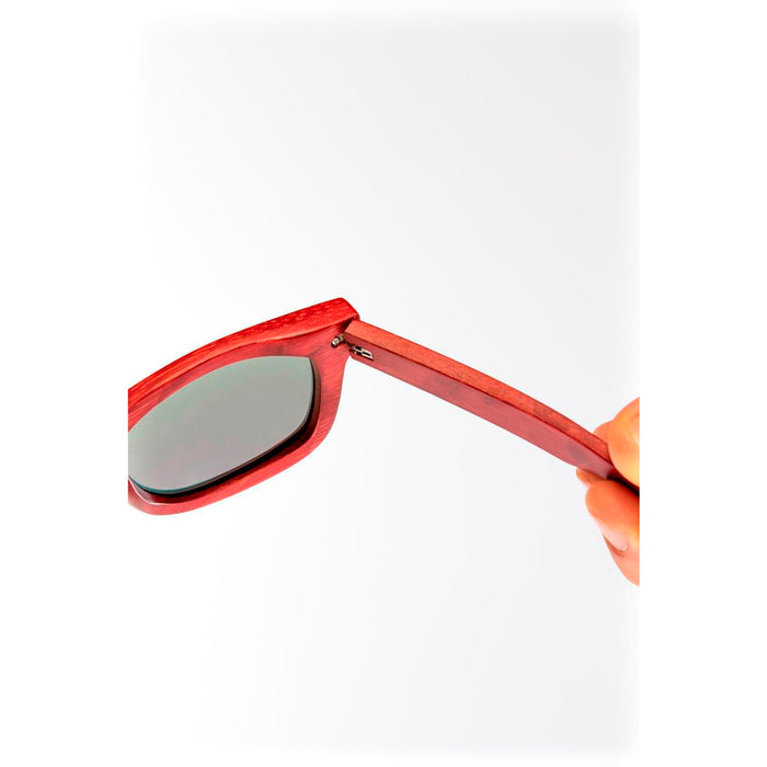 Mawaii Bamboo Puia moana Sunglasses, Red & Green